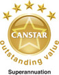 Canstar GOLD Outstanding Value Superannuation